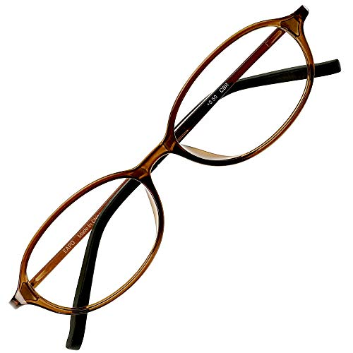 アイウェアエア 老眼鏡 おしゃれ レディース メンズ ブルーライトカット +0.5〜+3.5 4色 オーバル ショコラブラウン +0.50