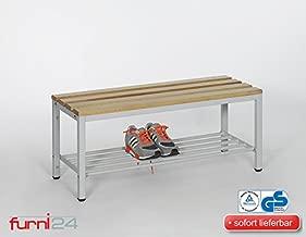 Sitzbank Bank Umkleide Umkleidegarderobe Schuhrost HxBxT:170x150x30 cm