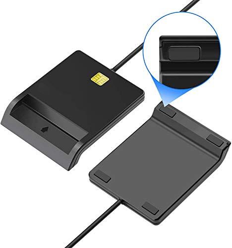 【2020最新版】接触型ICカードリーダーライタICチップのついた住民基本台帳カード国税電子申告・納税システムe-Tax、地方税電子手続き等に対応自宅で確定申告USB接続マイナンバーカード、住基カードに対応、CAC/SD/MicroSD(TF)/SIMスマートカードリーダーにも対応でき(ブラック)