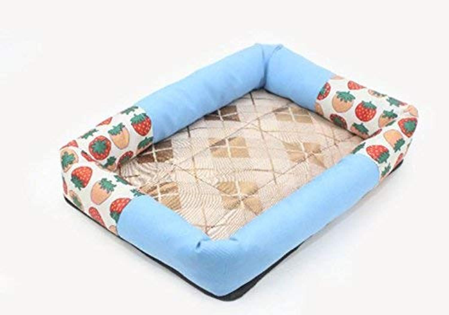 LLIND Pet Supplies House Kennel Cat Nest Mat bluee L Pet Bed Blanket Waterproof Pet Dog Bed Puppy