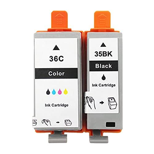 Cartuchos De Tinta Remanufacturados Para PGI-35BK CLI-36C, Reemplazo Compatible Con La Impresora IP100 IP110 De Para Canon, Traje Negro Y Color Package 1