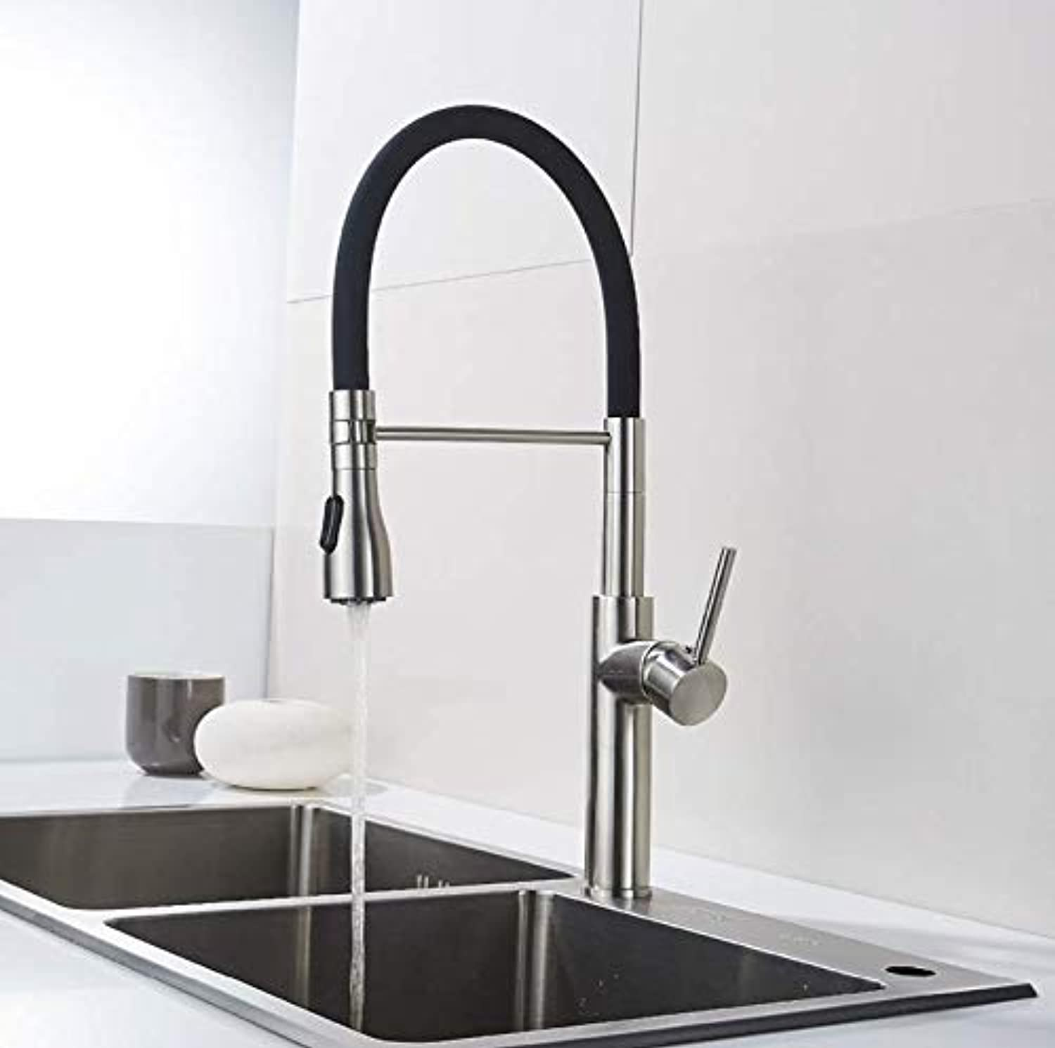 Decorry Unique Design Kitchen Faucet Brass Kitchen Faucets Turning 360 Degrees Black Kitchen Sink Torneira Parede Rubinetti 301-33N
