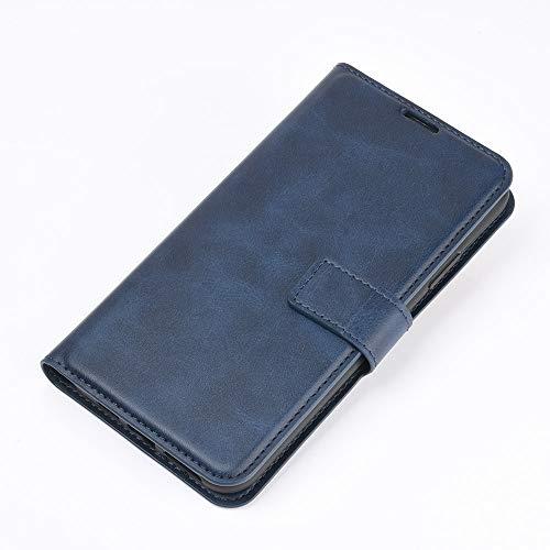 DAMAIJIA für Alcatel 3X 2020 Hüllen Klapphülle PU Leder Silikon Wallet Schutzhülle Schutz Mobiltelefon Flip Back Cover für 3X 2020 Alcatel Tasche Handy Zubehör (Blue)