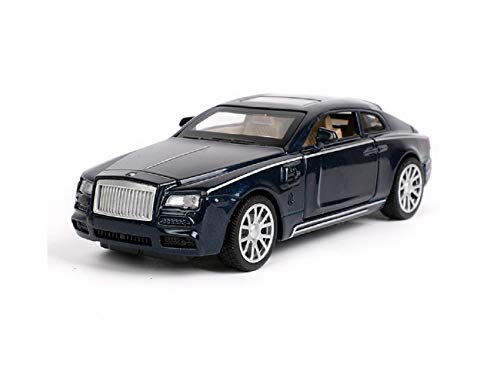 Toy car, 1:32 Rolls-Royce Diecast Sound & Light & Pull Back Model Toy Vehicles. (Black)