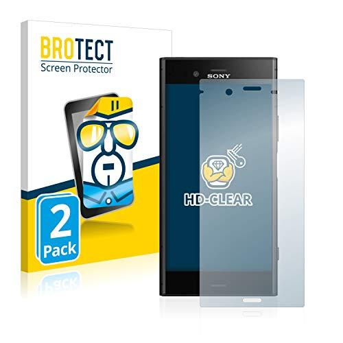 brotect Pellicola Protettiva Compatibile con Sony Xperia XZ1 Pellicola Trasparente (2 Pezzi) Anti-Impronte