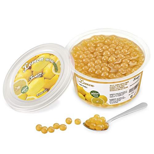 Original Popping Boba Fruchtperlen für Bubble Tea - 450g - Zitrone - Ohne künstliche Farbstoffe, echte Fruchtsäfte - Weniger Zucker - 100% Vegan und Glutenfrei