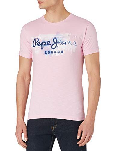 Pepe Jeans GOLDERS Camiseta, 325pink, L para Hombre