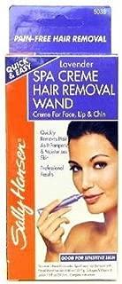 Sally Hansen Spa Creme Hair Removal Wand Lavender 2 Piece Kit