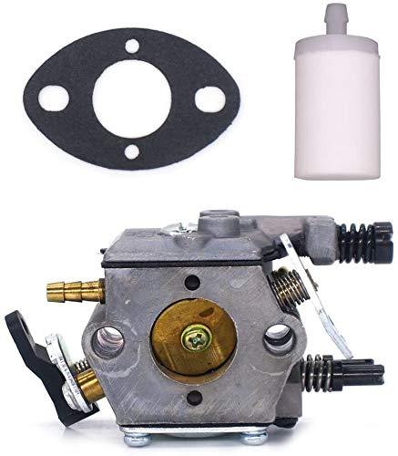 COSCANA Compatible con Husqvarna Carburador 51 55 Sierra de cadena Carbohidrato 503281504#Walbro WT-170-1 Motor