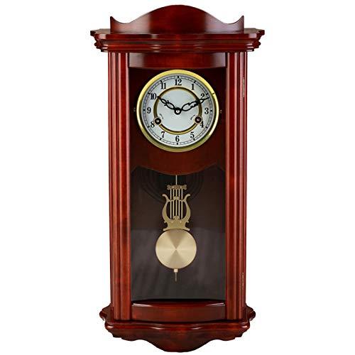 WUJIA Colección De Reloj De Péndulo Clásico De 25'× 11' De Reloj De Pared con Números Romanos Y Un Péndulo De Balanceo En Un Acabado De Cerezo,Arabic Scale
