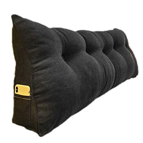 Grande Cuscino per Schienale per testiera, bay Window Long Pillow Cuscino Triangolare da Lettura Schienale per Divano Letto con Rivestimento Lavabile (Color : Dark Grey, Size : 200cm)