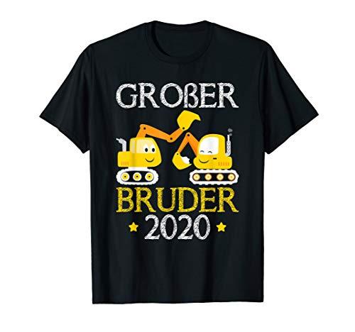 Kinder Endlich Großer Bruder 2020 Bagger T-Shirt