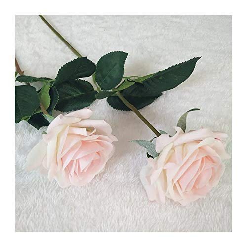 JINGGEGE Home Decoration Latex Rose Hand fühlen Filz Simulation Dekorative künstliche Silikon Rose Flowers Home Hochzeit DIY (Color : Pink Rose)