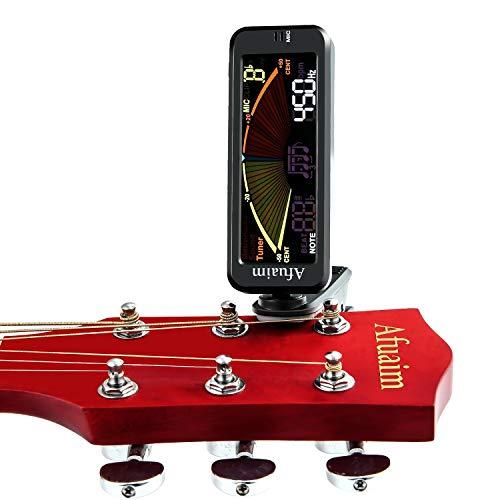 【Angebote】Afuaim Stimmgerät Metronom Chromatic 3 in 1 Clip Tuner für Gitarre Bass Ukulele Violine mit LCD-Display