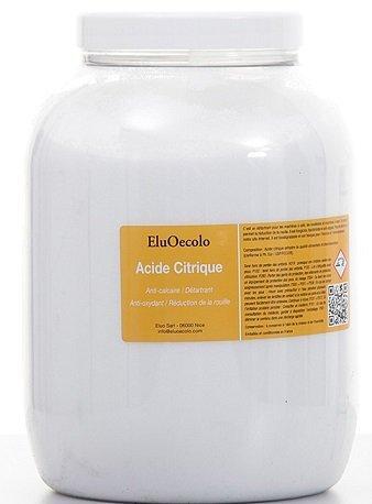 Acide Citrique Anhydre 2,70kg (qualité alimentaire & pharmaceutique) avec doseur à l'intérieur EluOecolo Made in France