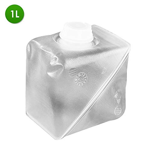 Ksruee Cubo de Agua Plegable, Recipiente de Agua Plegable con Grifo, Material...