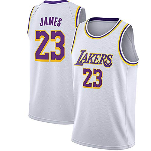 TPPHD Jerseys de Baloncesto para Hombres, NBA Los Angeles Lakers # 23 Lebron James Classic Swingman Jersey, Tela Respiradora Fresca Vintage All-Star Unisex Fan Uniforme,2,M