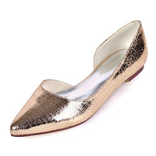 LGYKUMEG Damenschuhe Flache Ballett Flache Schuhe Überschuhe, Spitze Zehen Damenschuhe Hochzeitsschuhe,02,EU40
