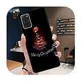 Coque souple pour Samsung S8 S9 S10 S20 Plus Ultra S10E Note 10 20 Lite Pro Ultra Santa Claus...