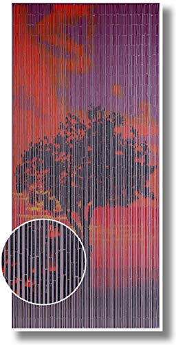 CONACORD Türvorhang Raumteiler Bambus Bambusvorhang Sunrise Fliegenvorhang Insektenschutz