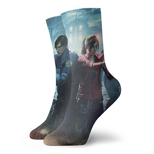 Resident Evil Antílope de dibujos animados Avatar para hombre y mujer, pies sensibles, calcetín de algodón y calcetines atléticos