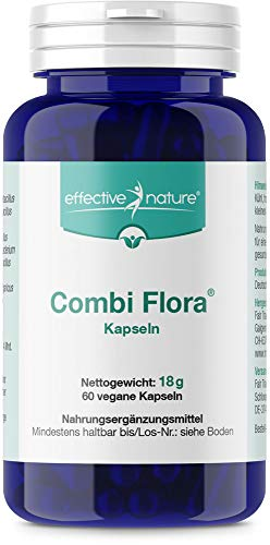 Combi Flora Kapseln zur täglichen Nahrungsergänzung, 14 aktive Bakterienstämme, 60 vegane Kapseln