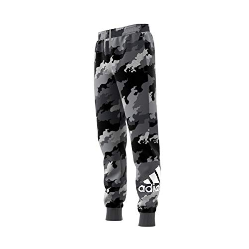 adidas Jungen Must Haves Badge of Sport Sporthose, Mgreyh/Grethr/White, 164