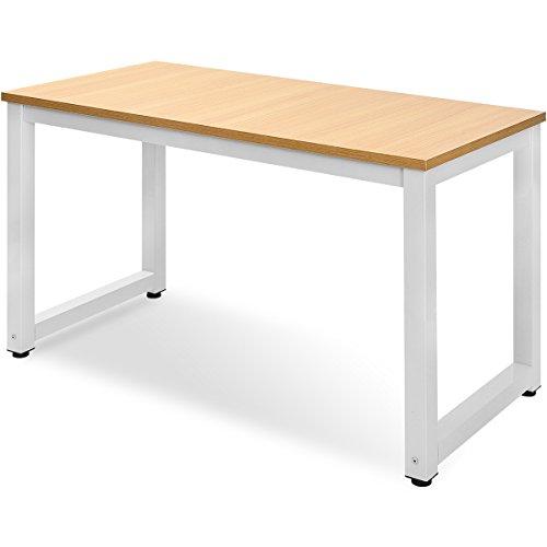 Merax Schreibtisch Computertisch PC Tisch Bürotisch Officetisch Stabile für Zuhause Büro Schlafzimmer Rleichterte Montage,120 x 60 x 75cm (Light Oak)