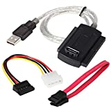 "DIGIFLEX SATA IDE to USB Adapter Cable for Hard Disk HDD - 2.5/3.5 - Supports SATA HDD, 2.5"" hard disk, 3.5"" hard disk, CD-ROM, DVD-ROM, CD-RW, COMBO device, DVD-RW to computer with USB 2.0"