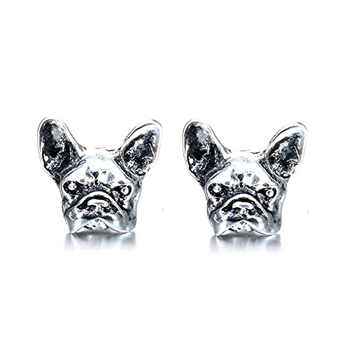 coadipress Dog Earrings,French Bulldog Puppy Animal Stud Earrings for Girls Boys Women Jewelry Christmas Gifts Alloy Earring Studs (Dog Earrings)