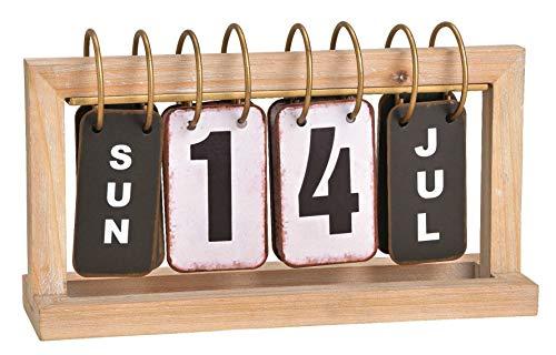 Wurm KG Tischkalender aus Holz, Bürodeko, Büroartikel, Dauerkalender, Geschenke für Männer, Kalender Industrial Style, Geschenke für Kollegen, Einzugsgeschenk Männer