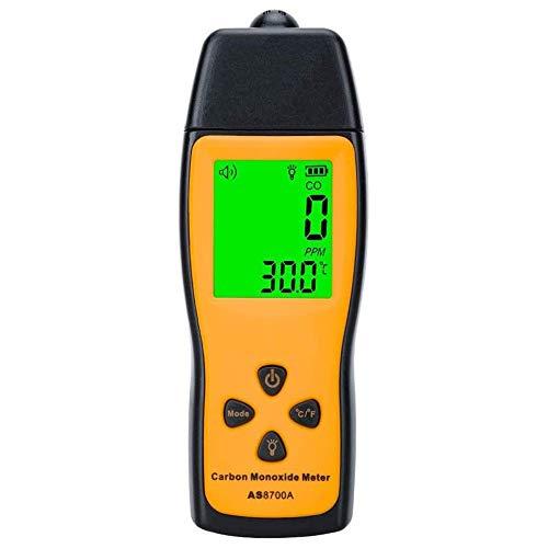 LI MING SHOP Detector De Monóxido De Carbono Y Alarma De Humo, Pantalla LCD, Portátil Digital, Gas De Mano, Entrega De Batería