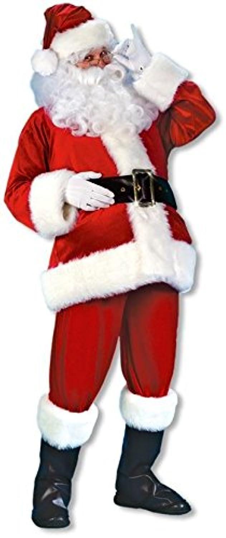 calidad de primera clase Terciopelo traje de Santa Santa Santa Claus DLX  ofrecemos varias marcas famosas