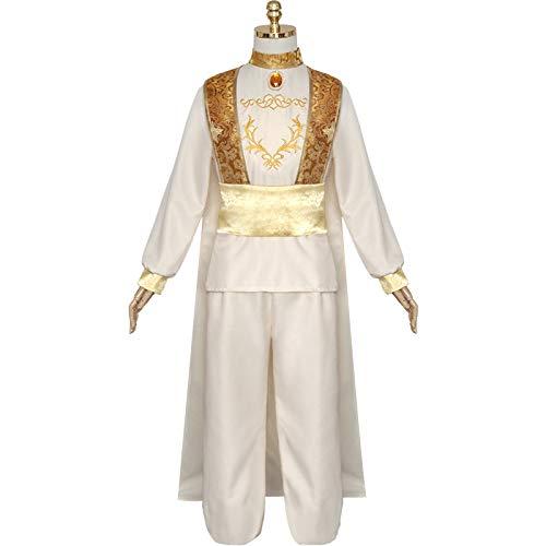 MASII Conjunto De Disfraces De Cosplay De Halloween del Príncipe árabe Aladdin para Hombre,M-Black