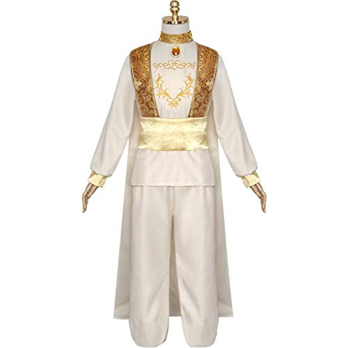 MASII Conjunto De Disfraces De Cosplay De Halloween del Príncipe árabe Aladdin para Hombre,XL-White