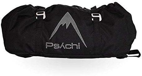 Psychi - Bolsa para Cuerda de Escalada - con Lona para el Suelo, Hebillas y Asas de Transporte