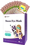 Gentle Steam Eye Heat Mask, Hawwwy 10 Pack, The Best Heating Eye Mask, Just Put-On and Relax, Reduces Stress, Puffy Eyes Dark Circles, Disposable, Compress Moist Compresses Dry Hot Heated Pad