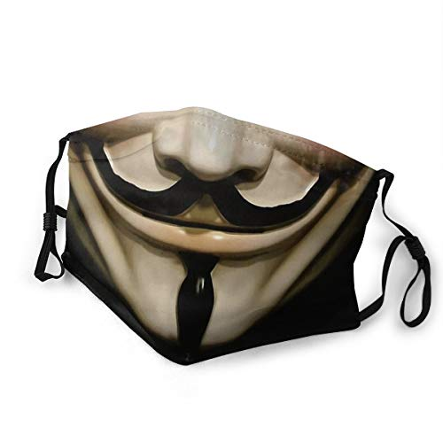 Masks-Guy Fawkes Mask Reusable Cotton Anti Dust Cover Medium Black