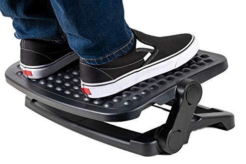 Foot Rest for Home Office - Under Desk FootRest - 3 Adjustable Height Positions - Foot Stand Includes 40 Degree Tilt - Non-Slip Rubber Feet Prevent Sliding - Ergonomic Foot Rest Helps Improve Posture
