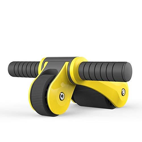Dispositivo de entrenamiento de los músculos Hogar multifuncional del músculo abdominal de ruedas plegable del músculo abdominal de la rueda doble rueda rodamiento de rodillos Blanca ejercicios de est