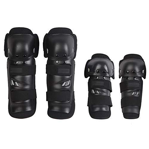 HUOFEIKE Sport-Knieschützer/Ellbogenschützer 2 Sätze, Schutzausrüstung Knieschutz-Stoßdämpfer Geeignet für Inlineskates, die Langlauf-Motorrad Fahren