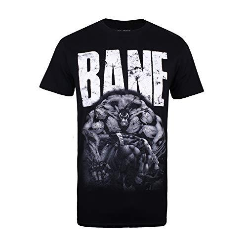 DC Comics Bane Camiseta, Negro (Black Blk), Medium (Talla del Fabricante: Medium) para Hombre