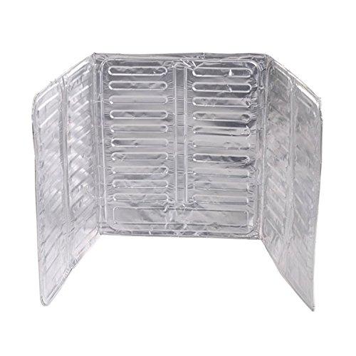 OUNONA Splash Guard Aluminum Foil Gas Stove Shield Oil Splatter Screen Kitchen Tool for Kitchen Wall Oil