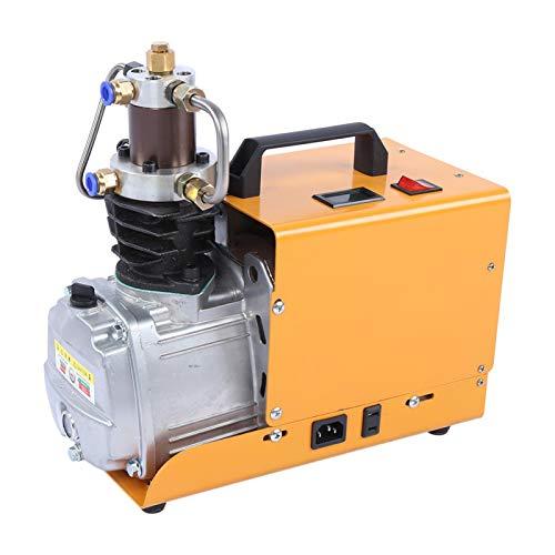 Bomba de compresor de aire, inflador de 30MPa 4500PSI, compresión secundaria de alta presión eléctrica, 2 métodos de enfriamiento que incluyen enfriamiento por agua y enfriamiento por aire(EU)
