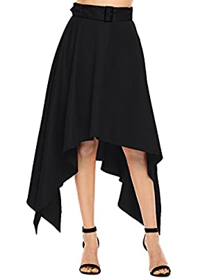 Shine Women High Waist Solid Formal Party Wedding Skirt