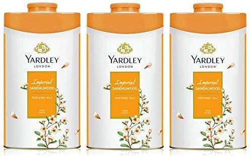 Yardley London - Talco de sándalo (250 g, 3 unidades)