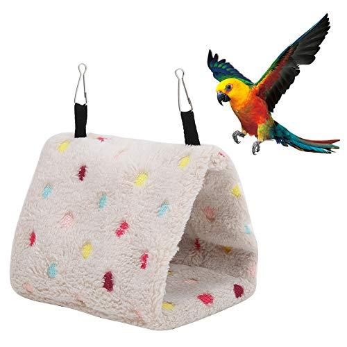Zerodis Amaca di Peluche Giocattolo della Gabbia del Criceto Capanna della casa del Nido di Uccello Caldo Inverno per Piccoli Animali Domestici pappagalli Uccelli(M)