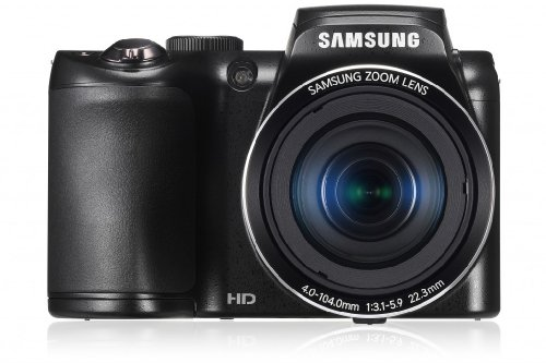 Samsung WB100 Digitalkamera (16,2 Megapixel, 26-fach opt. Zoom, 7,6 cm (3 Zoll) Display) inkl. 23 mm Ultra-Weitwinkel-Objektiv