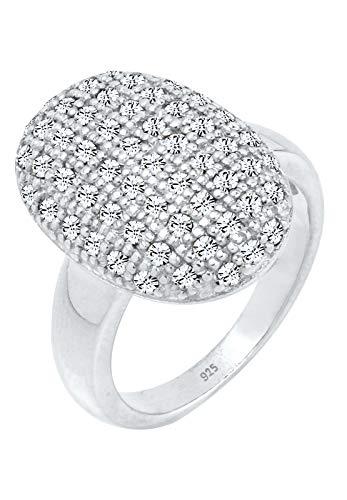 Elli PREMIUM Ring Damen mit Kristalle in 925 Sterling Silber
