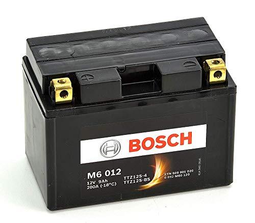 Bosch M6012 Batería motocicleta YTZ12S-4 / YTZ12S-BS - 12V AGM 9A/h-200A